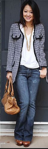 Jeans and Chanel Jacket